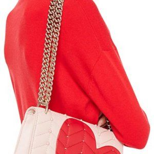 Kate Spade Heart Pink/Red Leather Cross body Bag